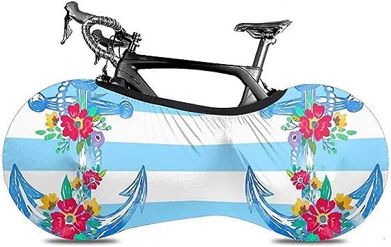 Cubierta De Bicicleta,Rayas Azules Y Blancas Ancla De Barco ...