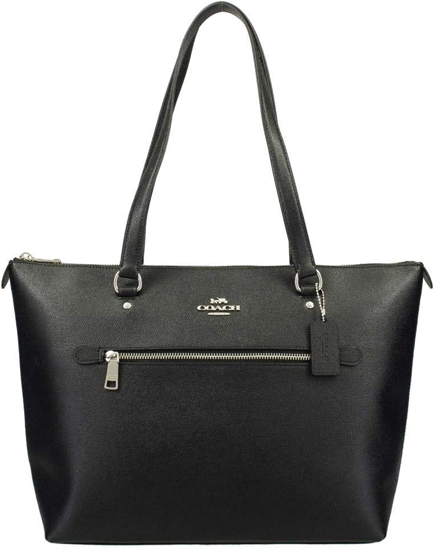 Coach Leather Gallery # F79608 Sac à main en cuir Noir Taille M ...