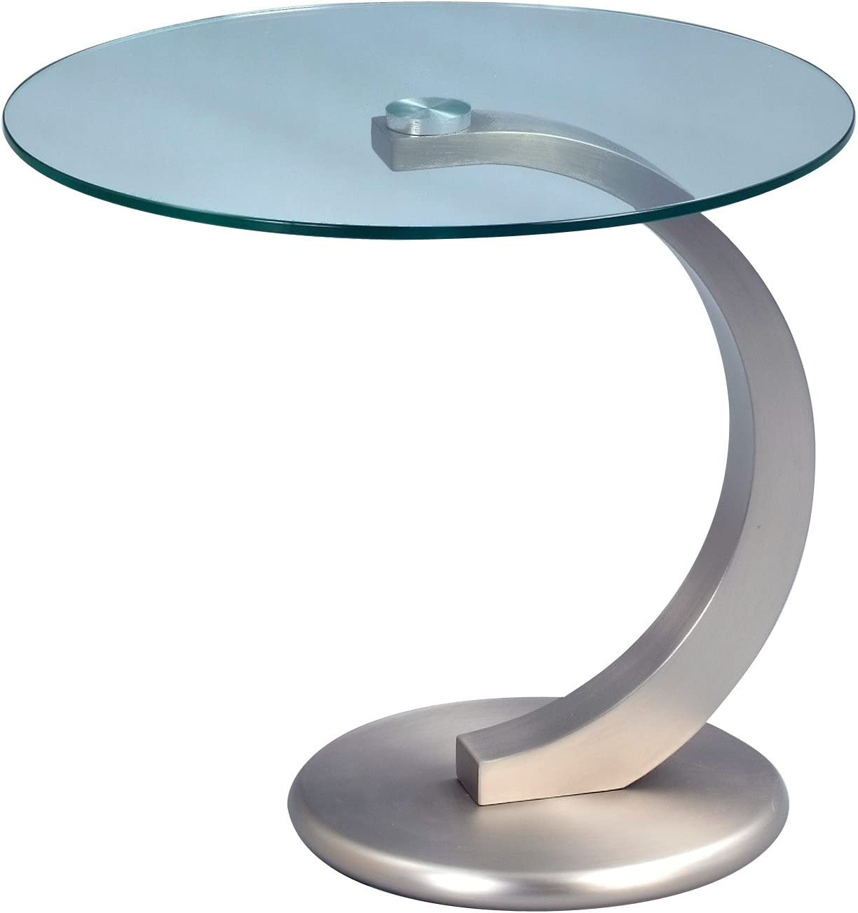 Metal Stainless Steel Effect HomeTrends4You 531188 Side Table 48 x 46 x 38 cm