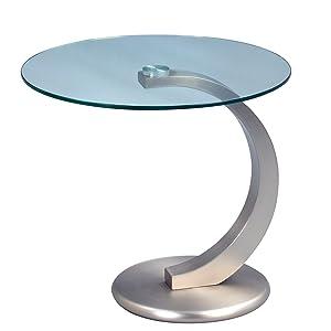 HomeTrends4You 530488 Tavolino, altezza 46 o 50 cm, metallo acciaio inox