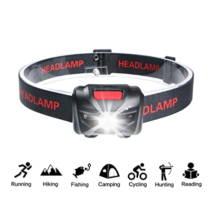Smart Sensor Head Torch Flashlight Q5 LED Headlamp for Camping Hunting  Tool