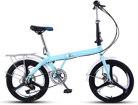 DFKDGL Bicicleta de montaña, Bicicleta para Mujer, Bicicleta de Carretera compacta, Rueda de 20 Pulgadas, Bicicleta Cruiser cómoda, Bicicleta Plegable para Adultos, Damas, Viaje Unisex: Amazon.es: Deportes y aire libre