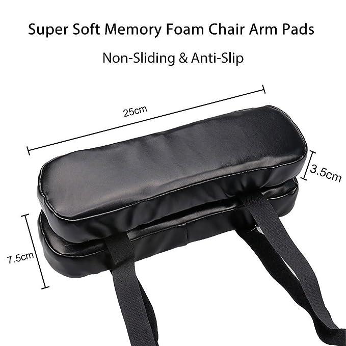 Cuscini del bracciolo della sedia resto del braccio della gomma piuma di memoria Cuscino del cuoio dellunit/à di elaborazione della sedia per i gomiti e gli avambracci Sollievo dalla pressione