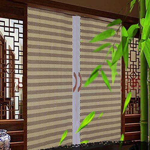 WUFENG Cortina De Bambú Sombreado Entrada Pantalla Cortina De La Puerta Puerta Corredera Plegable Persiana Sala Cuarto 5 Colores 12 Tamaños Puede Ser Personalizado Cortina: Amazon.es: Hogar
