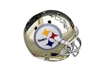 c76ee903d Antonio Brown Pittsburgh Steelers Custom Chrome Autographed Signed Full  Size Helmet Memorabilia - JSA Authentic