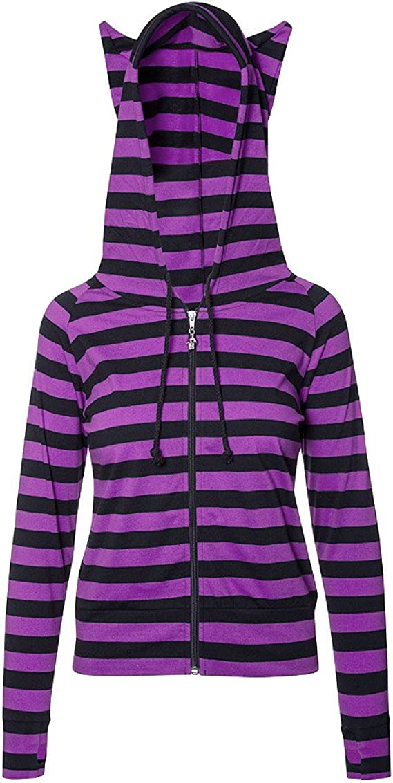 Banned Black Red Striped Hoodie