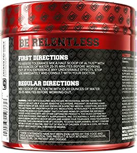 ALTIUS Pre-Workout Supplement - 100% Naturally Sweetened & Flavored - Increase Energy & Focus, Enhance Endurance, Improve Strength & Performance - Mixed Berry Blast, 406.6 Grams
