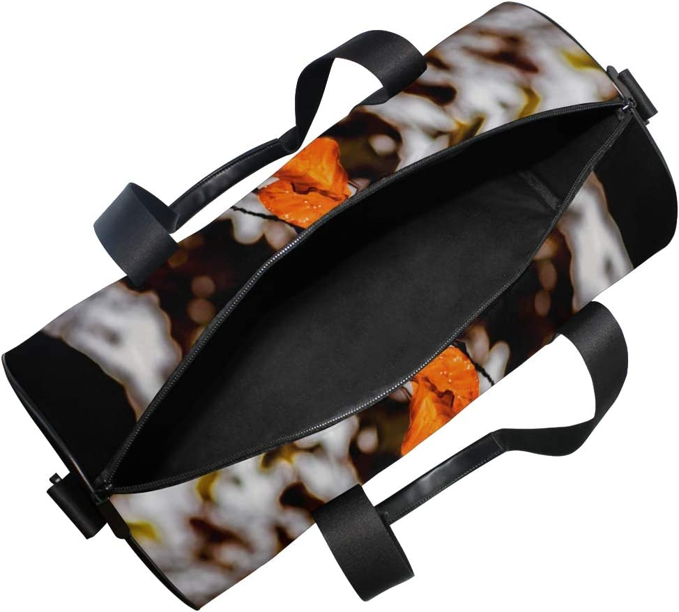 Sports Bag Natural Late Autumn Leaves Mens Duffle Luggage Travel Bags Kid Lightweight Gym bag