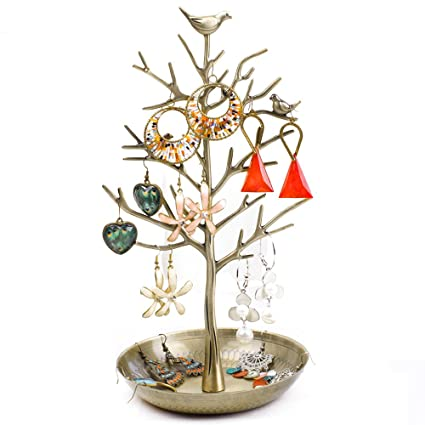 Amazoncom Dazone Birds Tree Jewelry Stand Display Earring Necklace