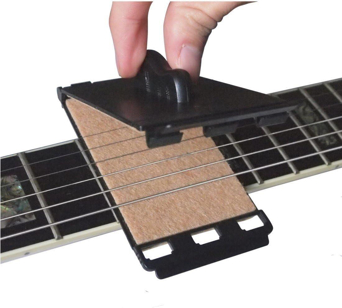 Guitarra eléctrica de cuerdas y Diapasón Limpiador