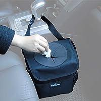 Big Ant Sac de poubelle de voiture de sac de poubelle de voiture pour la petite preuve de fuite - sac à ordures de voiture avec le couvercle et les poches de stockage