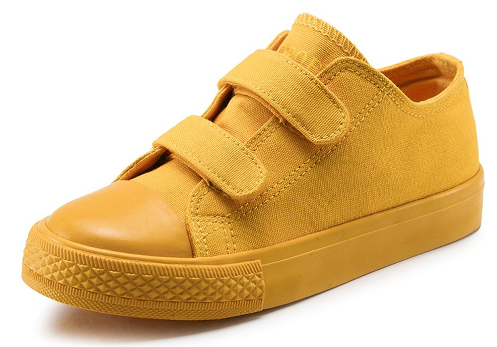 iDuoDuo Kids Classic Candy Color School Shoes Casual Dress Canvas Sneakers Yellow 13.5 M US Little Kid by iDuoDuo (Image #1)