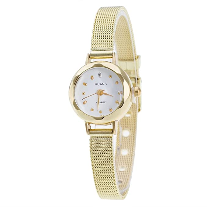 Amazon.com: Reloj para mujer, elegante pequeño correa de ...