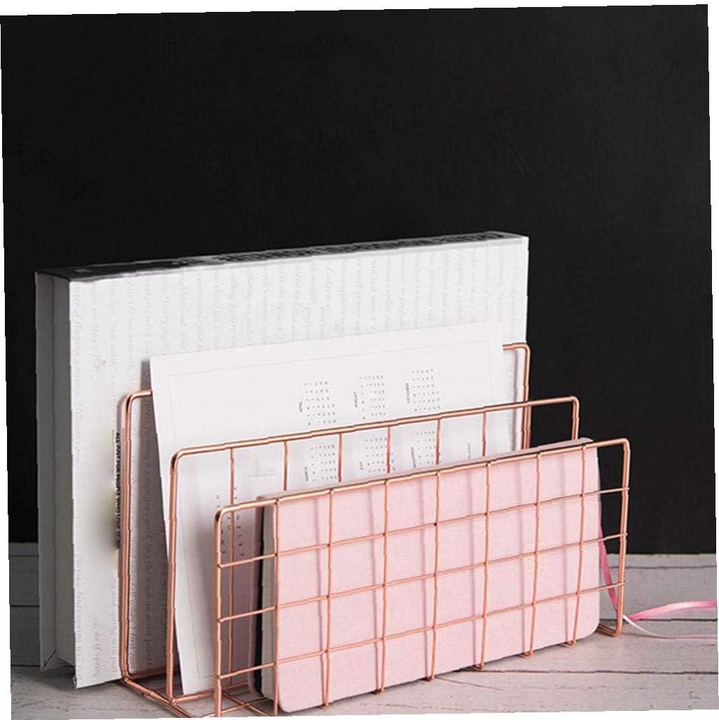 Nicedier Bandeja de Tarjeta Carta Bandeja de Documentos con 3 Compartimentos met/álicos para Oficina Bandeja de Escritorio Art/ículos del Hogar