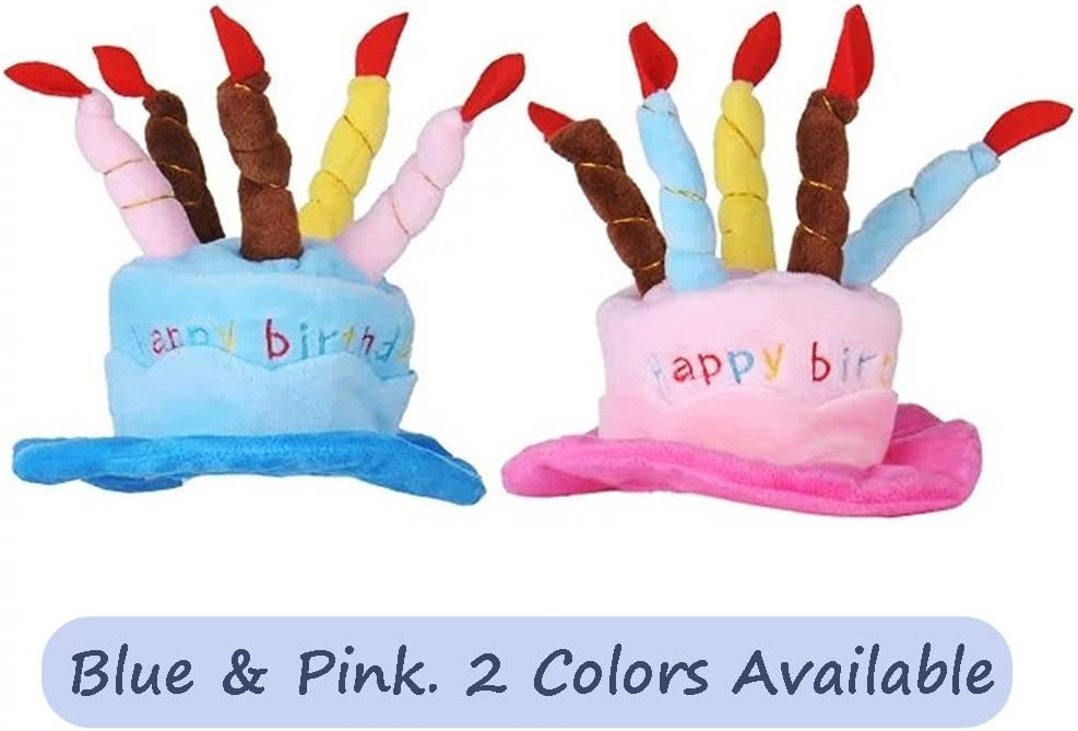 Pink Petzilla PBH-1 Pet Birthday Hat for Small Cats /& Dogs Cake /& Candles Design