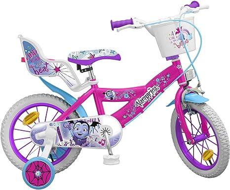 Disney Junior Vampirina - Bicicleta Infantil de 14 Pulgadas con Dos ...