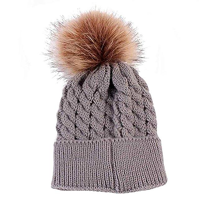 ALCYONEUS Winter Warm Pom Pom Ball Mütze Kinder Kleinkind