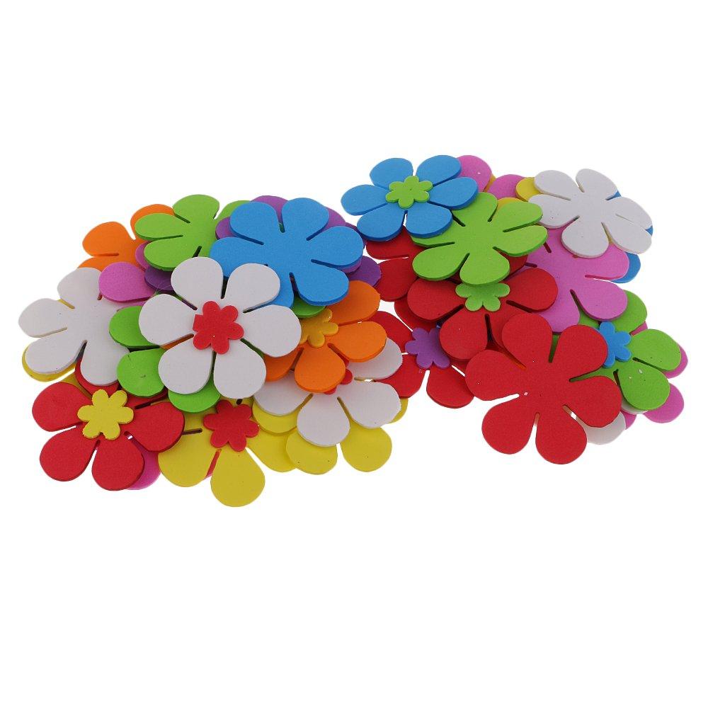 MagiDeal 40 Unidades Pegatinas Colores Mezclados Flores Espuma 6 Cm Ni/ños Diy Decoraciones Artesan/ías