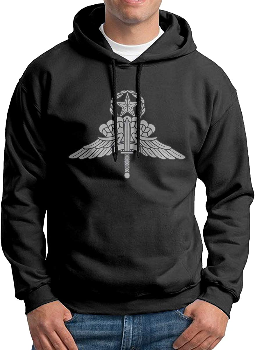 US Army Halo Master Parachutist Jump Wings Mens Hoodies Long Sleeve Pullover Casual Sweatshirt Hooded Sweater