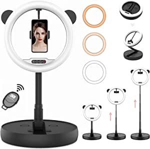 Aro de Luz Anillo de Luz HEERTOGO Aro de Luz para Movil 3 Colores 10 Brillos Regulables con Control Remoto para Selfie Maquillaje Tiktok Youtube