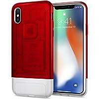 Spigen Classic C1 Serisi Kılıf iPhone X ile Uyumlu / (iPhone 10.Yıla Özel Tasarım Kılıf) - Ruby