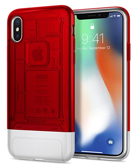 best authentic 7c3a3 502ee Spigen Classic C1 [10th Anniversary Limited Edition] Designed for iPhone X  Case (2017) - Ruby