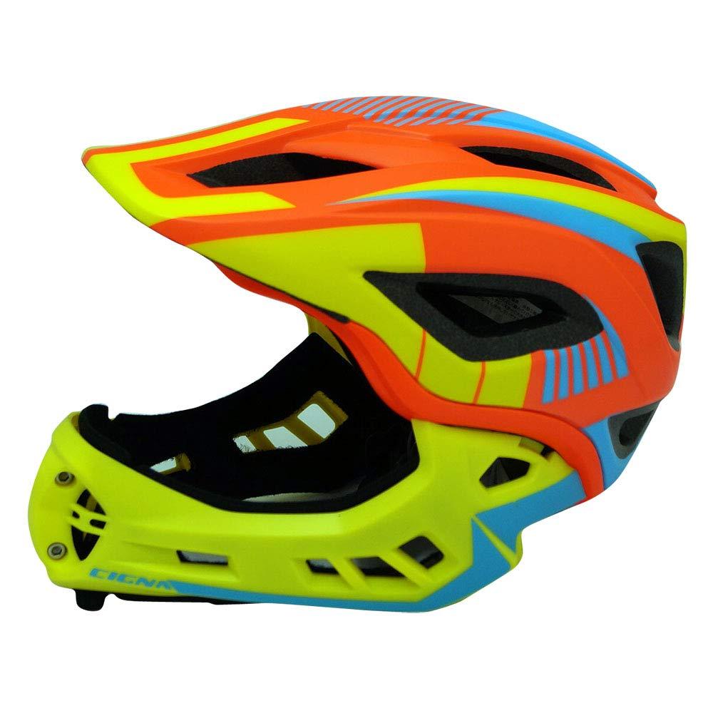 【TETE(テテ)】軽量自転車用フルフェイスヘルメットRegulus(レグルス)YBオレンジSM 2サイズ Small  B07L74KNHP