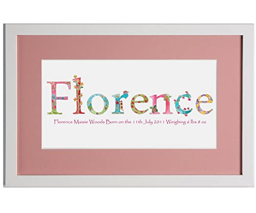 Baby giftsbaby girl picturename pictureframedwhiteflower baby giftsbaby girl picturename pictureframedwhiteflower negle Image collections
