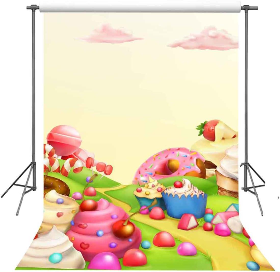 FUERMOR 5x7ft Fairytale Desserts World Photography Studio Backdrop Children Photo Props NANFU173