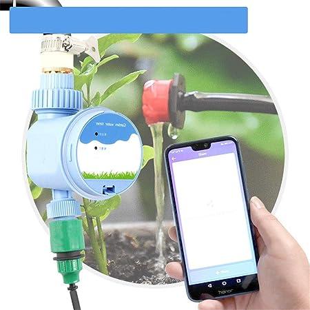 Liergou Temporizador De Agua De Jardín Teléfono Inteligente de riego automático de riego Temporizador WiFi móvil de Control Remoto for el jardín Balcón (Color : Blue, Size : 20x15x8cm): Amazon.es: Hogar