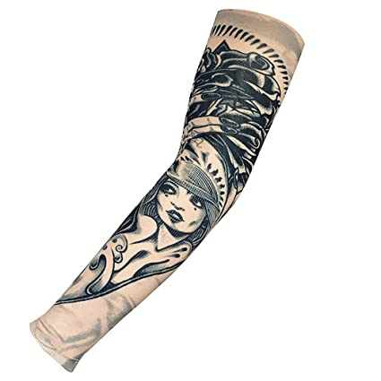 Apparel Accessories Men's Accessories Anti-sunshine Fashion Men And Women Tattoo Arm Leg Sleeves High Elastic Nylon Halloween Party Dance Party Tattoo Sleeve