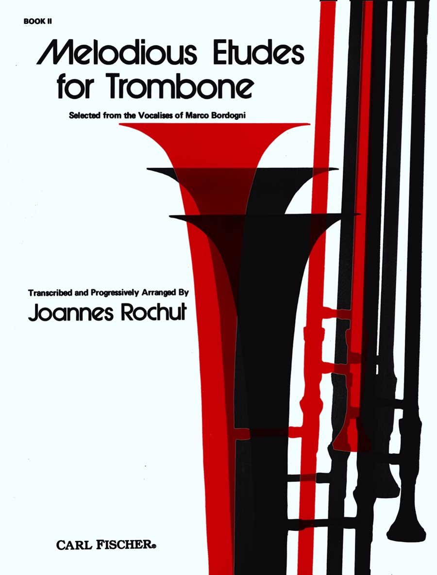 Lovely Melodious Etudes For Trombone Book 1 Rochut+audio Buy One Give One Brass Sheet Music & Song Books