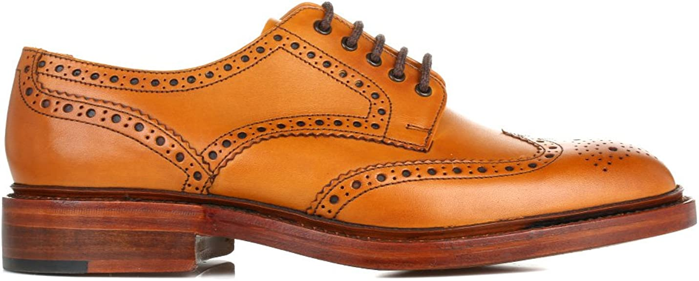 Homme Loake Chester 2 Tan en cuir formelle Richelieu à Lacets Chaussures F Raccord