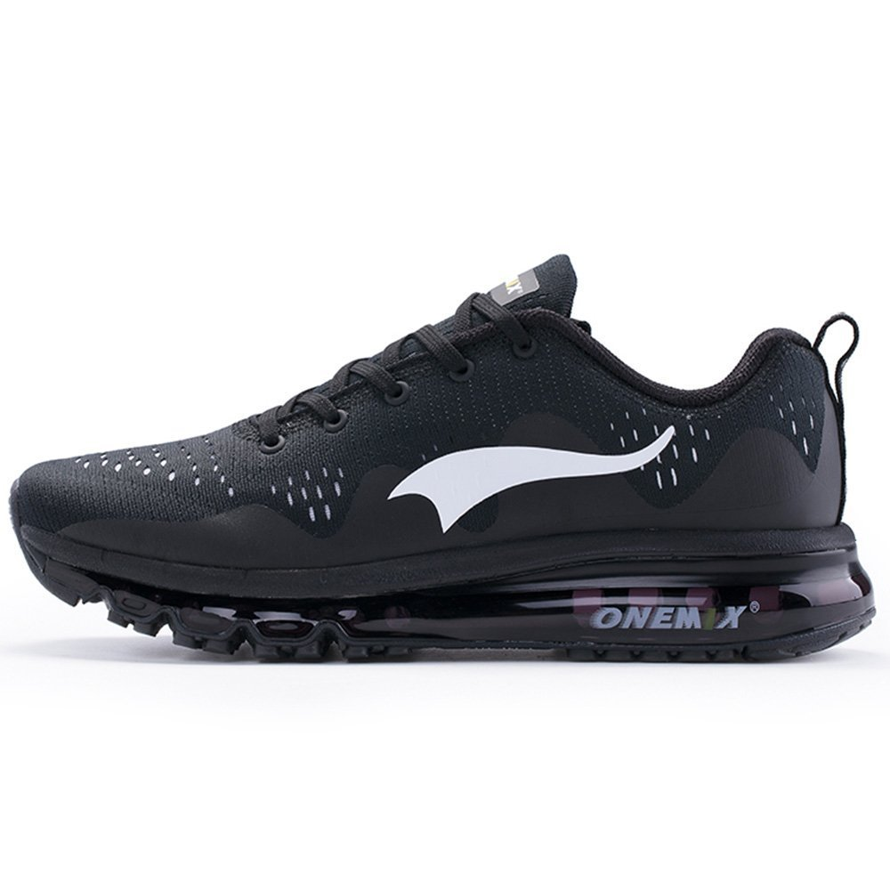 ONEMIX Air Cushion Sports Running Shoes for Men and Women New Wave Casual Walking Sneakers Black US 11