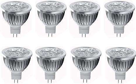 10x 12V GU5.3 MR16 LED Bulbs 4W Warm White 3000K Spot Light Replace 35W Halogen