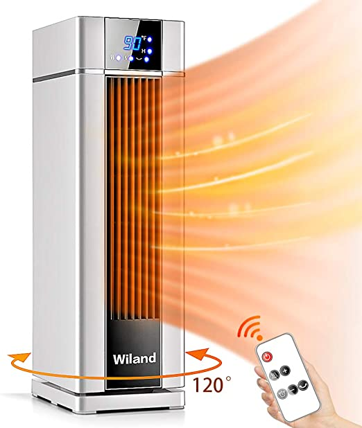 Amazon Com Space Heater With Remote Control Lcd Ceramic Tower