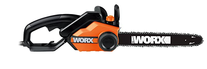 Worx 16-Inch 14.5 Amp Electric Chainsaw with Auto-Tension, Chain Brake, and Automatic Oiling – WG303.1