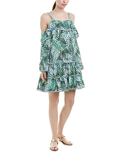 e569356ebc Amazon.com: Red Carter Women's Palm Party Cold-Shoulder Dress Cover ...