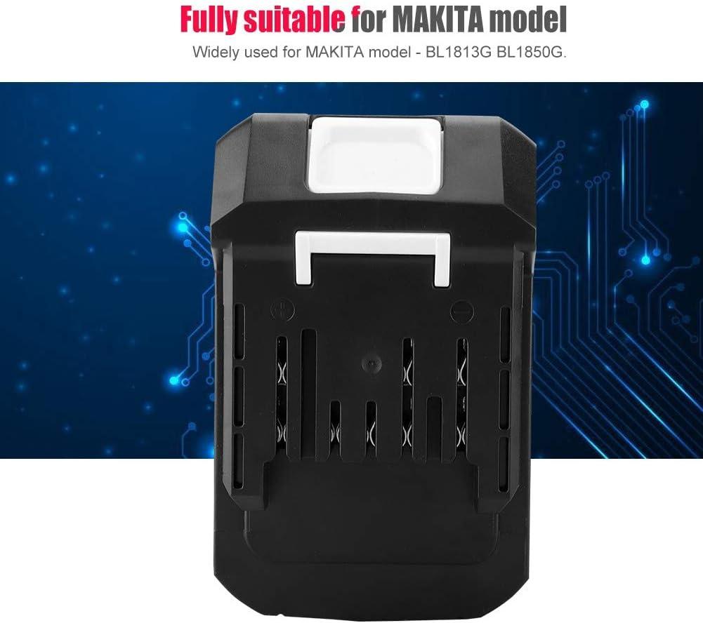 Garsent Batteria Ricaricabile agli ioni di Litio Ricaricabile per Batteria al Litio di Grande capacit/à per MAKITA BL1813G BL1850G 3.0AH