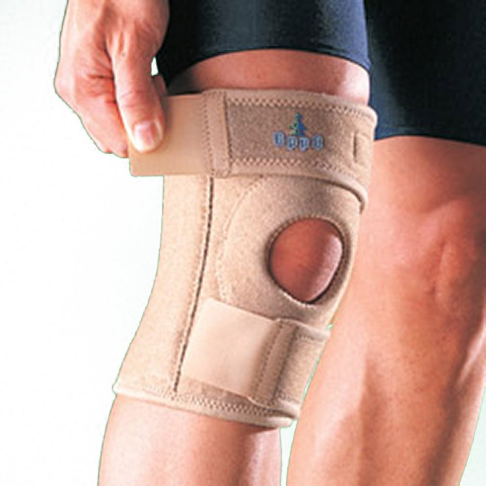 Oppo Medical CoolPrene Adjustable Right or Left Knee Stabilizer (Natural; Unisex; One Size Fits Most)