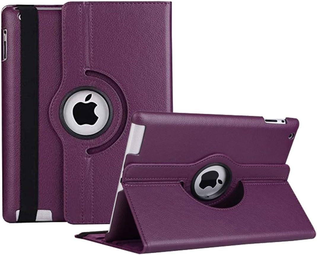 iPad 2/3/4 Case - 360 Degree Rotating Stand Smart Case Protective Cover with Auto Wake Up/Sleep Feature for Apple iPad 4, iPad 3 & iPad 2 (Purple)