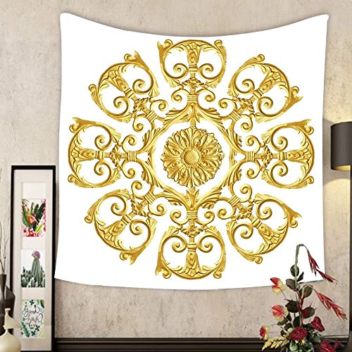 Grace Little Custom tapestry ornament elements vintage gold floral designs