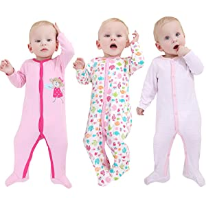 66b8714c1 Amazon.com  Hisharry 3-Pack Baby Girl and Toddler Girl Long Sleeve ...