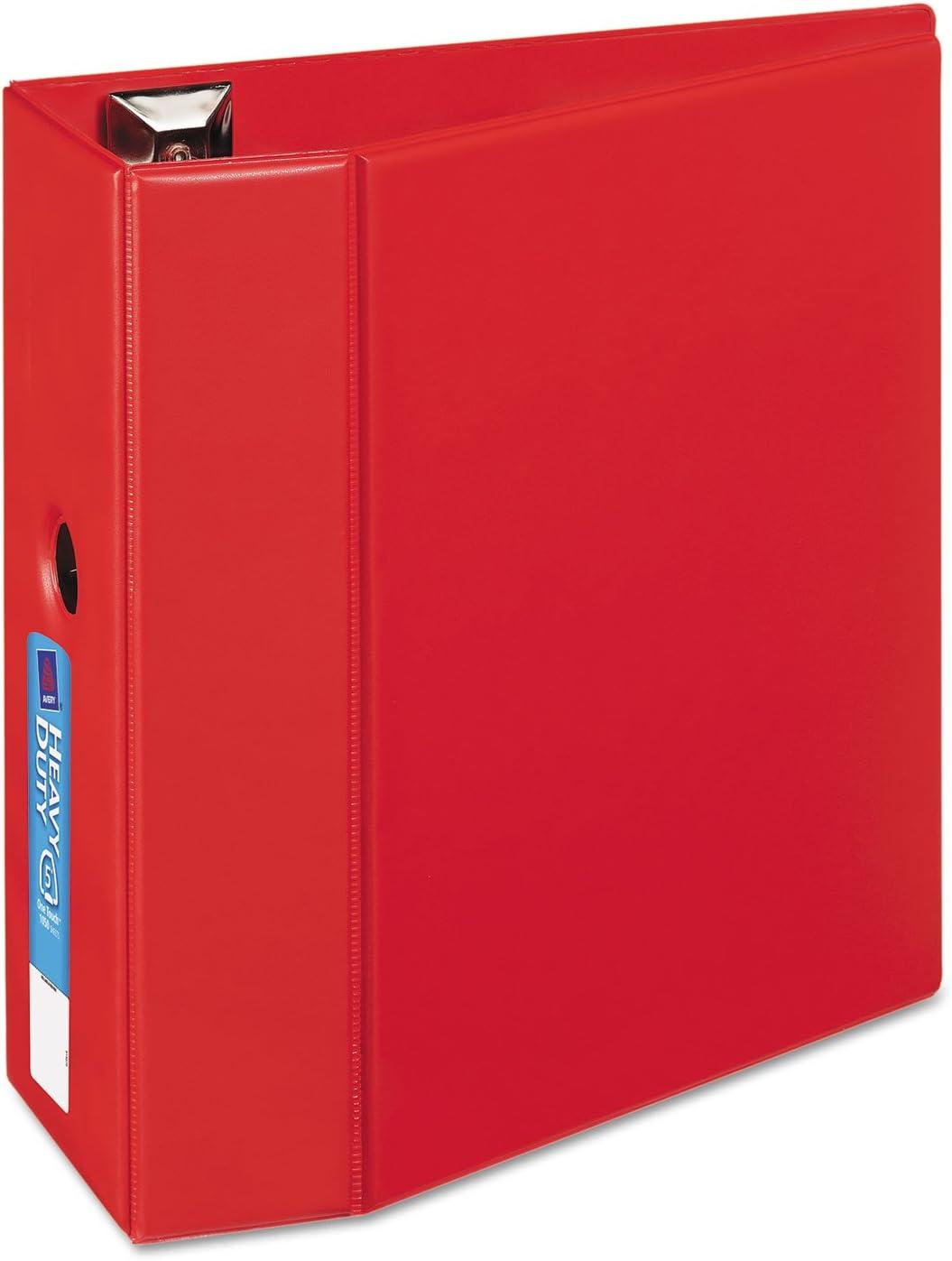 Avery 79586 3-Ring EZD Binder 8-1//2-Inch x11-Inch Red 5-Inch Capacity