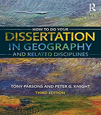 how to do your dissertation in geography