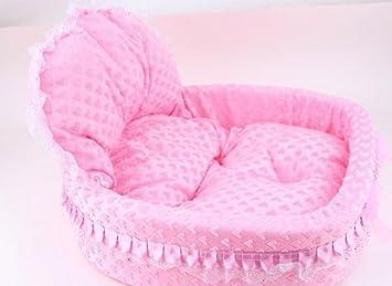 Princesa arco encaje borde cama perro cama para mascotas ...