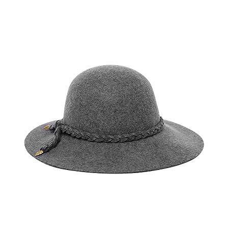 BAACHANG Sombreros Sombreros de Fieltro de Lana cálida Heces ...