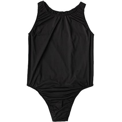 7f50c4737d YiZYiF Men's Smooth Stretchy Thong Leotard Cool Briefs Vest Bodysuit  Swimwear Black One Size: Amazon.co.uk: Clothing