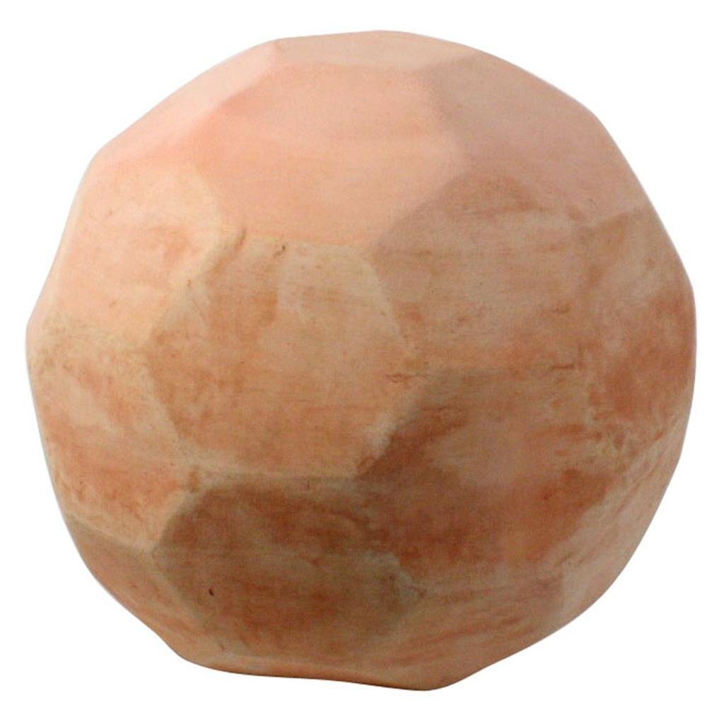 Terracotta Faceted Sphere - Lrg by Intelligent Design