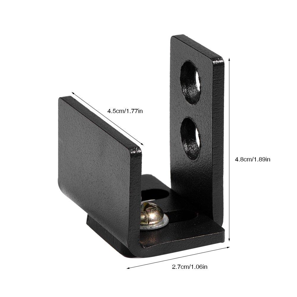 Guide de plancher de b/âti de mur Guide de bas de porte en acier au carbone avec vis mat/ériel pour porte de grange coulissante